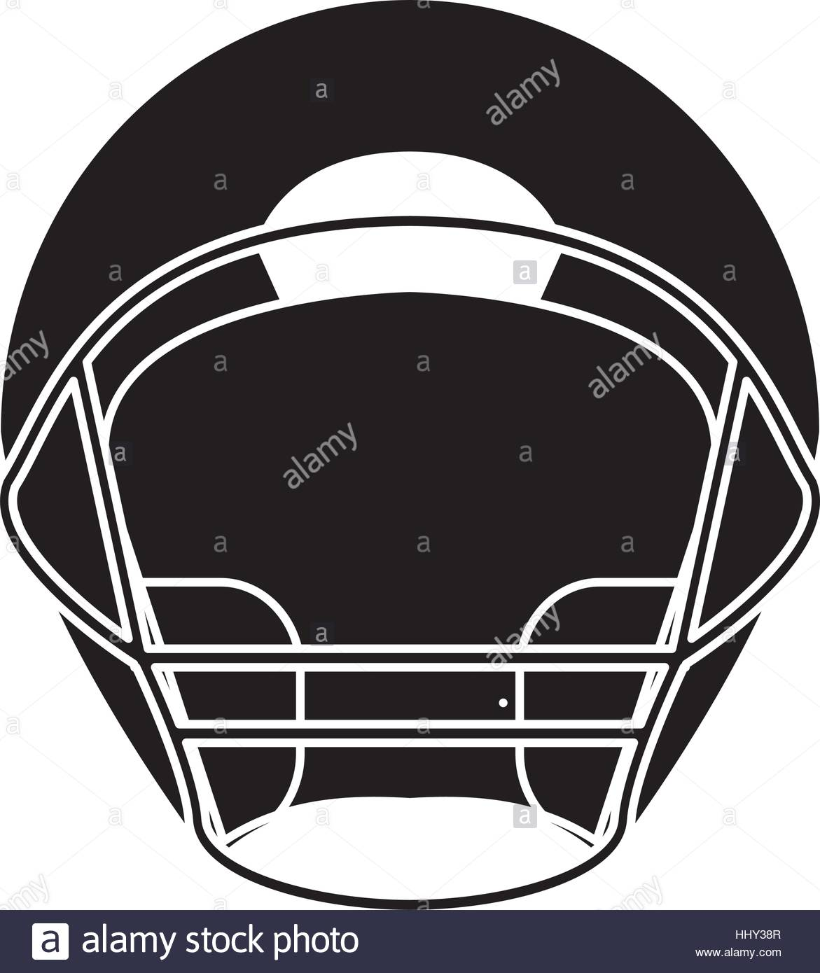 1171x1390 Silhouette Helmet American Football Front View Stock Vector Art