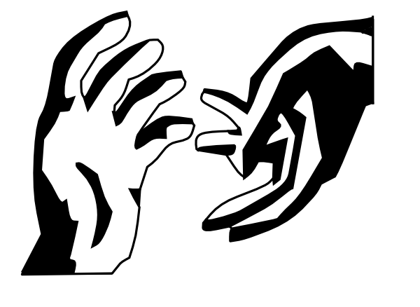 600x438 Silhouette Helping Hand Clipart