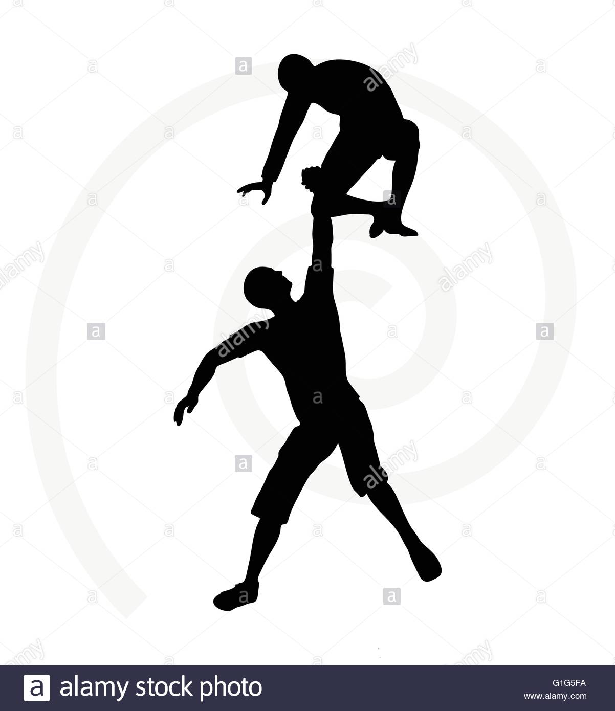1202x1390 Silhouette Of Two Senior Climbers Men Team Holding On
