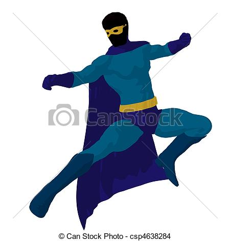450x470 Super Hero Illustration Silhouette. Super Hero Silhouette