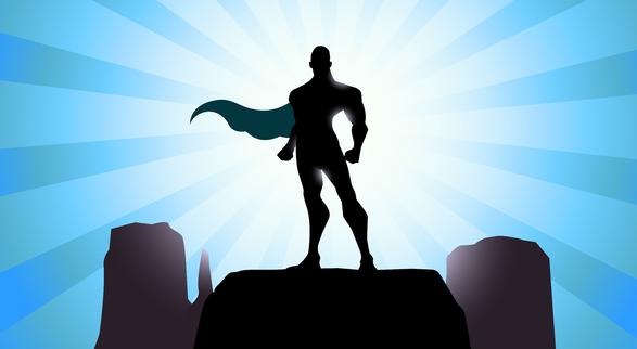 587x322 Superhero Silhouette Illustration Of Super Hero In Silhouette