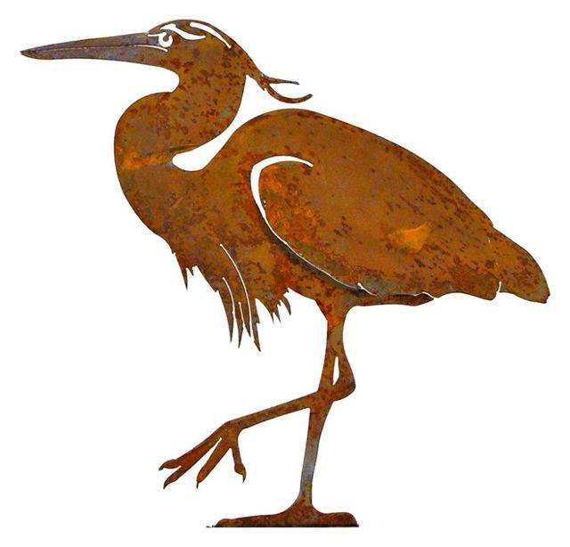 640x614 Great Blue Heron Bird Silhouette Wall Decor