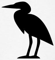 190x205 Heron Bird Silhouette T Shirt Spreadshirt