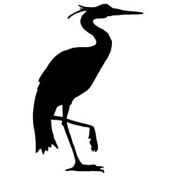 250x250 Heron Silhouette Silhouettes Silhouettes