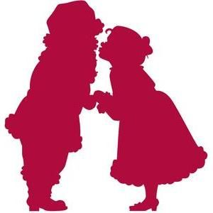 300x300 Christmas Kiss Silhouette Design, Silhouettes And Clip Art