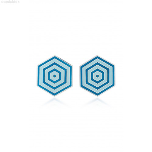 500x500 M'O Exclusive Enamel Hexagon Earrings By Silhouette Mmosgq6h