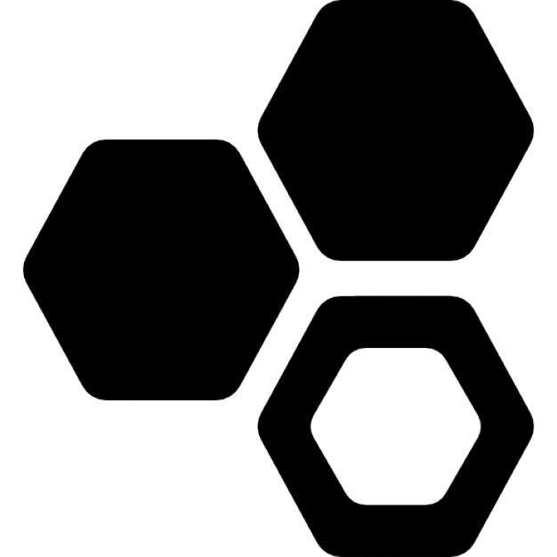 626x626 Three Hexagons Cell Symbol Icons Free Download