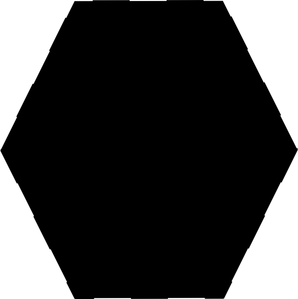 594x597 Hexagon B Clip Art