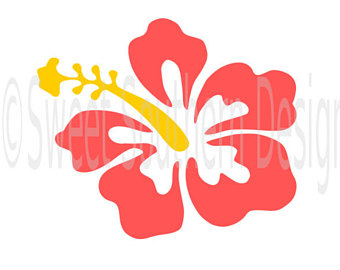 340x270 Hibiscus Svg, Dxf Files For Cricut Design Space, Silhouette Studio