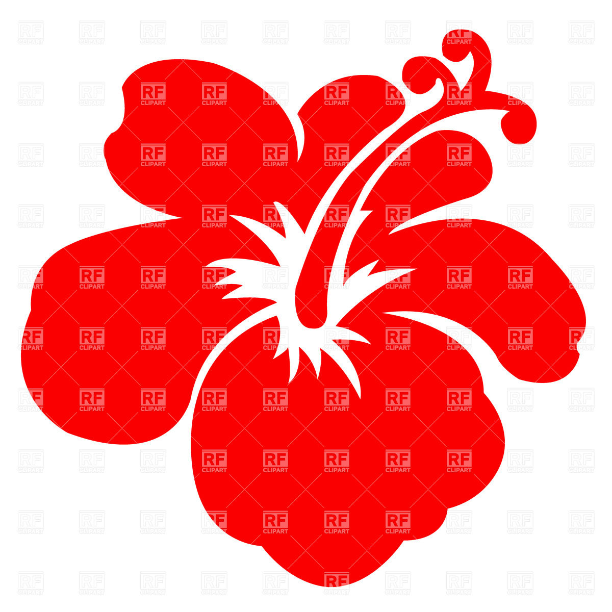 1200x1200 Red Hawaiian Flower