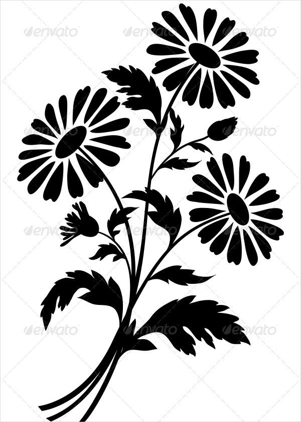 600x840 Beautiful Flower Silhouettes