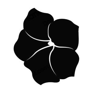 310x310 Hibiscus Flower Silhouette Plants Decals, Decal Sticker