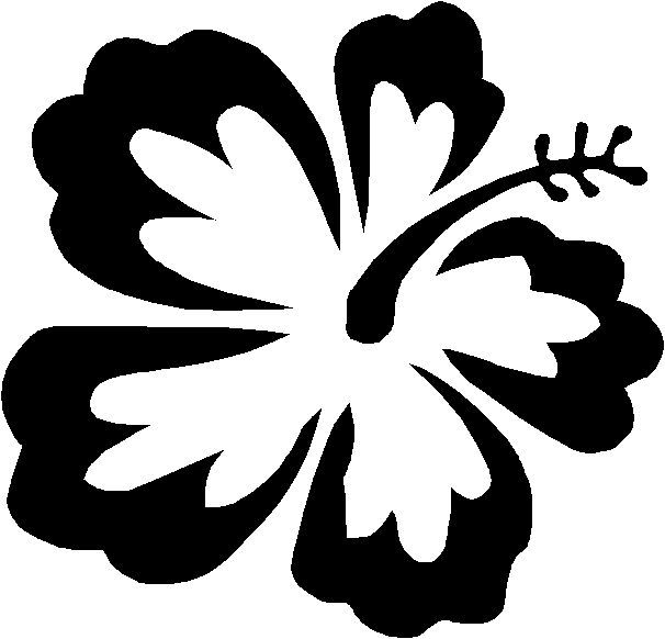 606x582 Free Coloring Pages Of Hawaiian Flowers Stencils