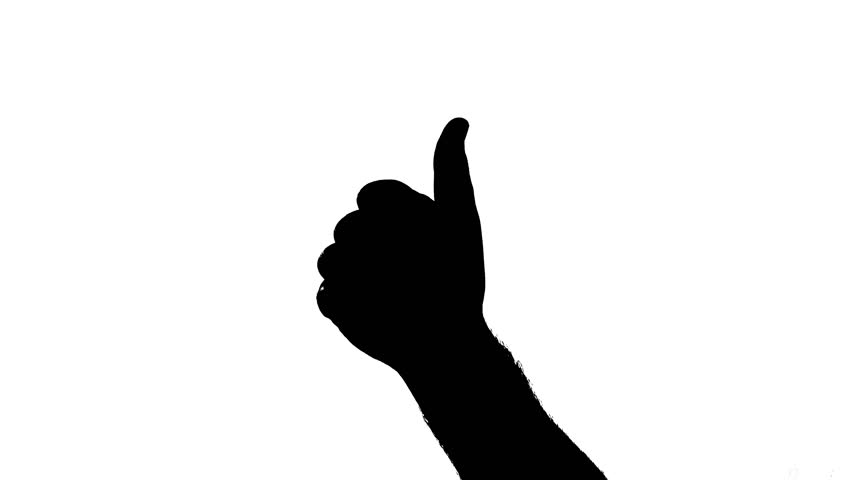 852x480 Hands Clapping Silhouette. Male Hands Silhouette Clapping On