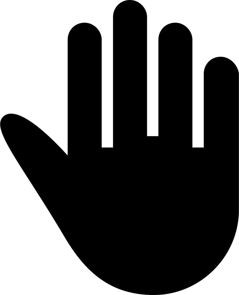 794x980 High Five Black Hand Silhouette Svg Png Icon Free Download ( 57264