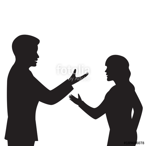 500x500 Business Communication Silhouette Stock Image And Royalty Free