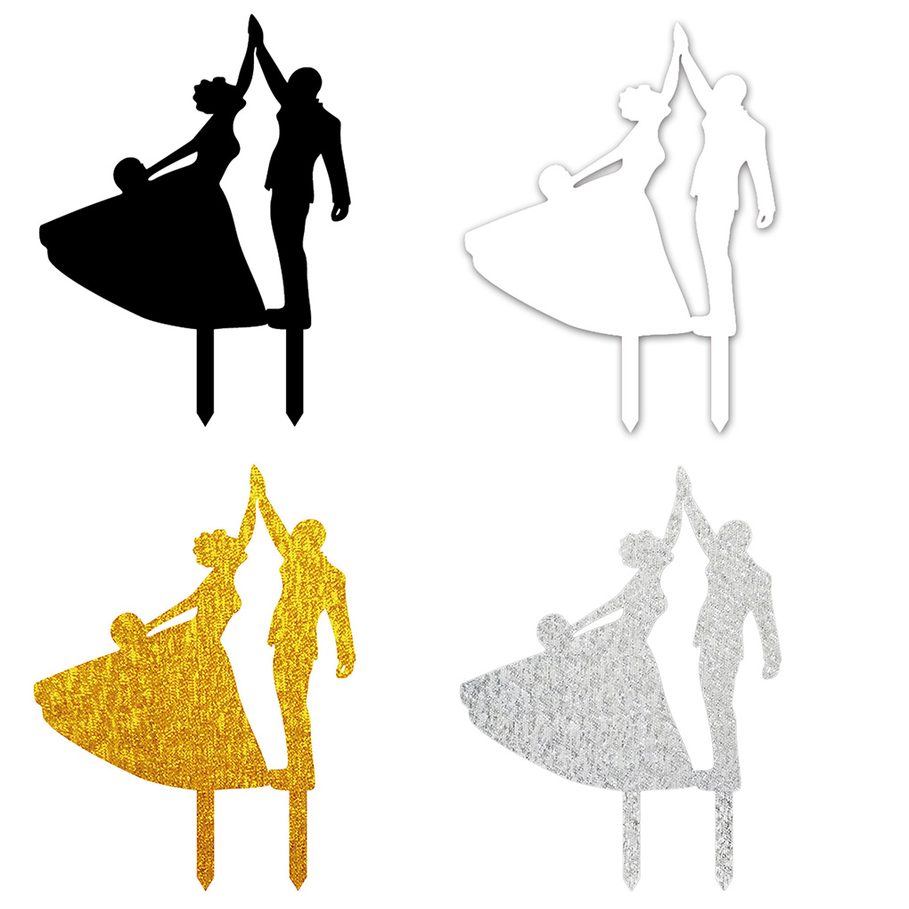 1020x1020 Dancing Bride And Groom High Five Silhouette Wedding Birthday