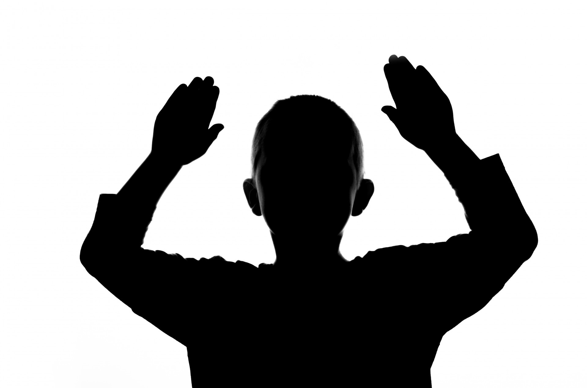 1920x1271 Free Images Hand, Silhouette, Black And White, People, Boy