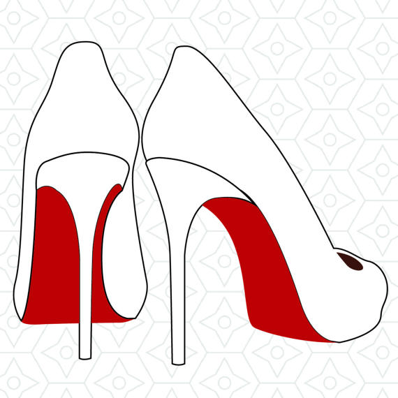 570x570 High Heels Decal Design, Svg, Dxf, Eps Vector Files For Use