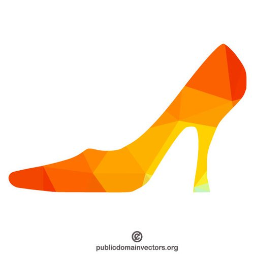 500x500 High Heel Shoe Color Silhouette Public Domain Vectors