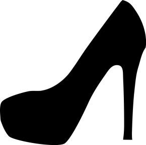 290x287 Free Svg High Heel Vector Shoes Silhouettes