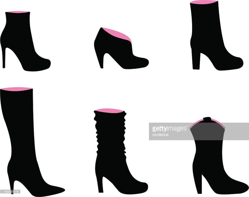 800x634 High Heel Silhouette Clip Art
