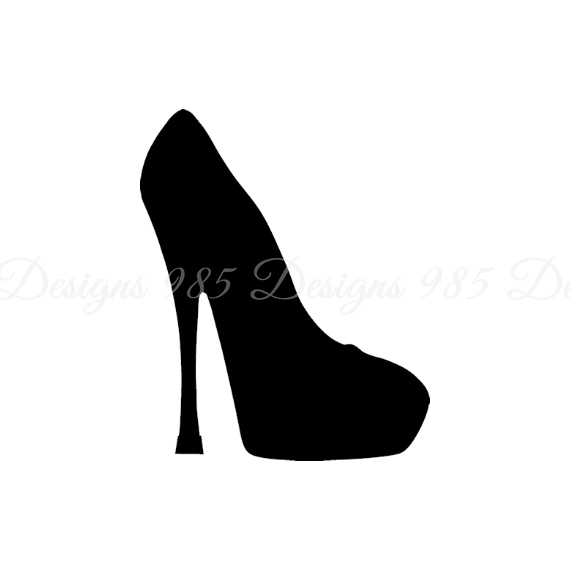 570x570 High Heel Woman's Shoe Svg For Cricut By 985 Graphic Designs