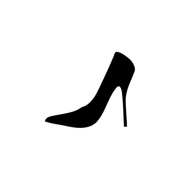 600x600 Women Shoe Silhouette Png Clip Arts Free Liked On Polyvore