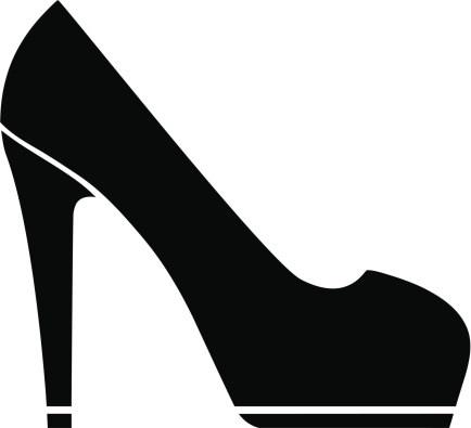 high heel shoe silhouette clip art at getdrawings com free for rh getdrawings com high heel clip art black and white high heel clip art free