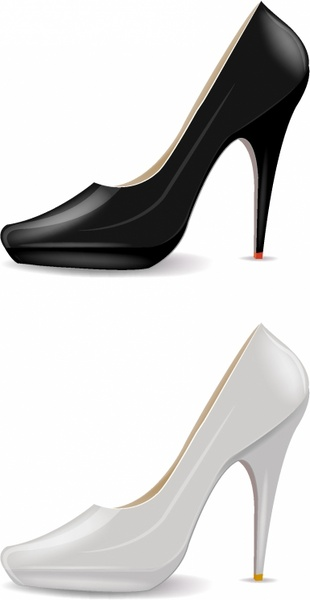 310x600 High Heel Shoes Free Vector Download (1,434 Free Vector)