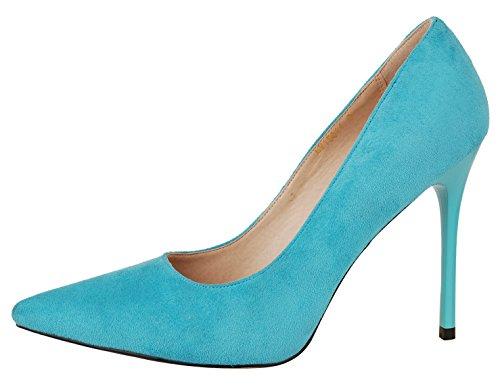 500x391 Verocara Women's High Heel Pointy Toe Simple Silhouette Dress