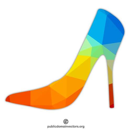500x500 Colored High Heel Public Domain Vectors
