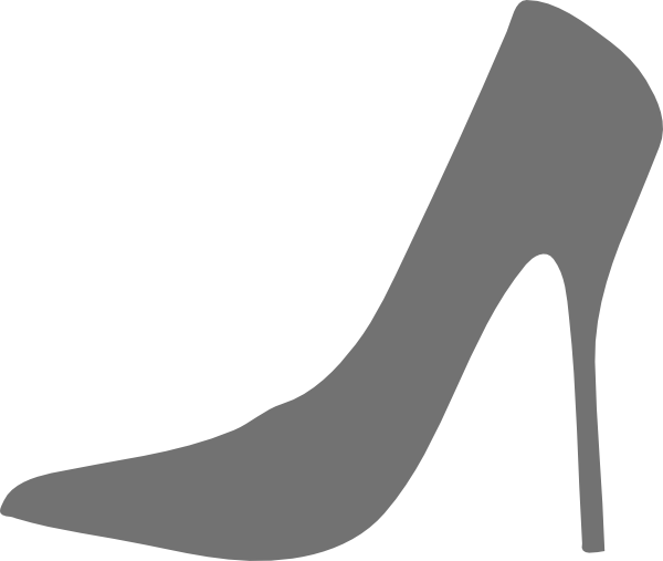 600x507 High Heel Gray Clip Art