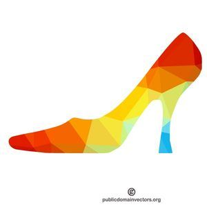 300x300 High Heel Shoe Silhouette Vector Graphics Vector Silhouettes