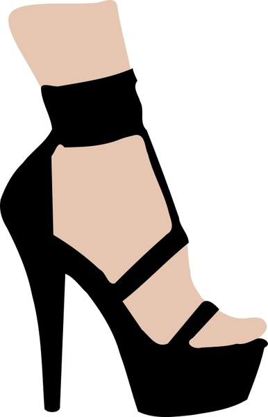 386x600 High Heeled Shoe Free Vector In Open Office Drawing Svg ( Svg