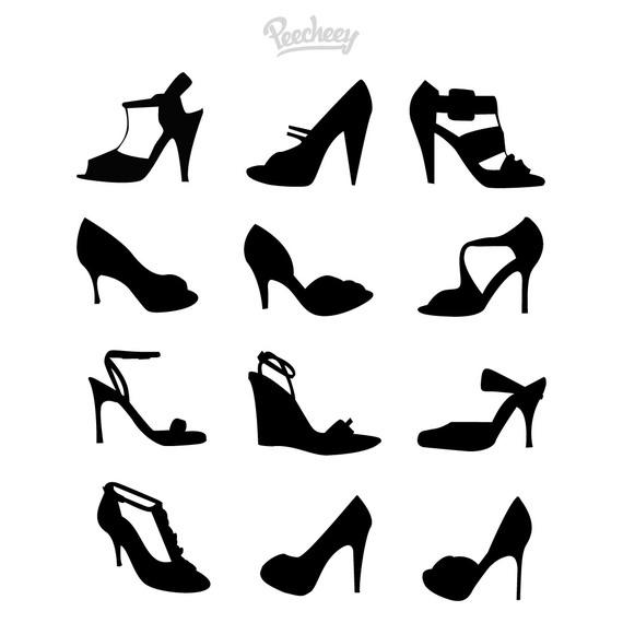 570x570 Ladies Shoe Pack Silhouettes