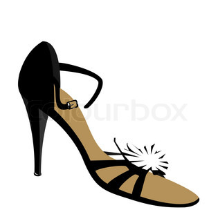 315x320 Shoes Silhouette Vector Illustration Eps10 Stock Vector Colourbox