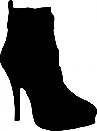 315x425 Woman Silhouette Women Shoe Silhouette Vector Clip Art