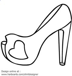 236x250 Free High Heel Vectors Diy Template, Card Making