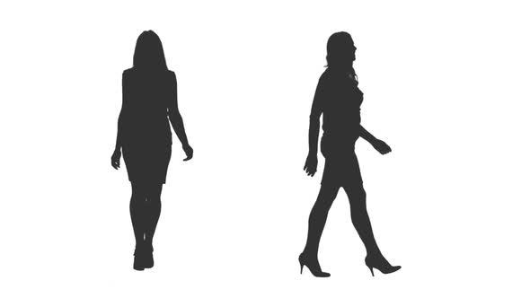 590x332 Walking Female Silhouette On High Heels, Alpha Channel By Mgpremier