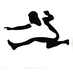 236x236 High Jump Track And Field Silhouette