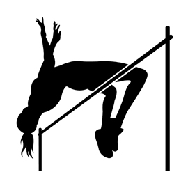 270x270 High Jumper Silhouette Stencil Free Stencil Gallery