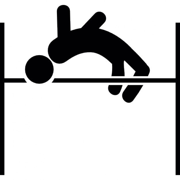 626x626 Man Practicing High Jump Icons Free Download