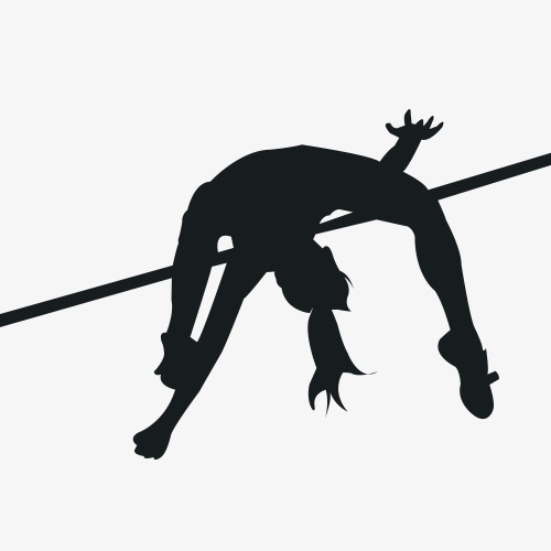 500x500 High Jump, Movement, Physical Education, Sketch Png Image