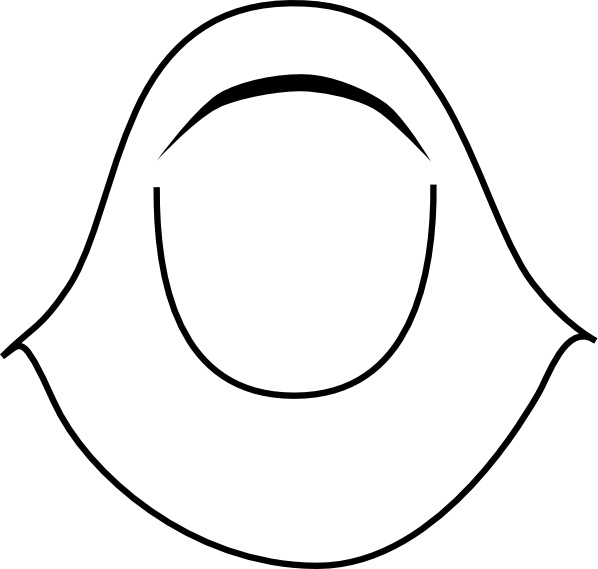 598x569 Islamic Women Clothing Hijab Clip Art Free Vector In Open Office