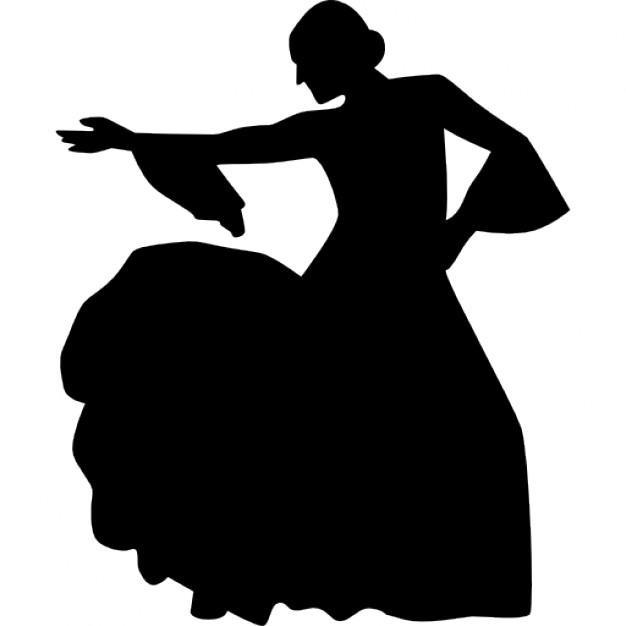 626x626 Dancing Woman Silhouette Icons Free Download