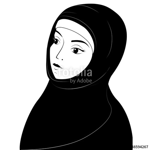 Hijab Silhouette Vector