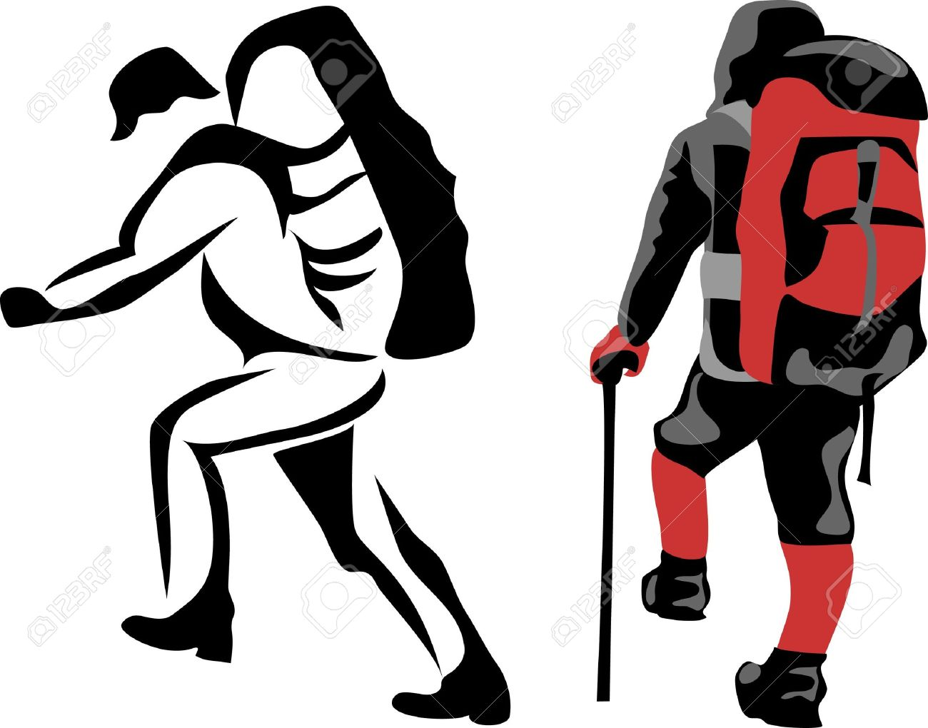 1300x1020 Hiking Clipart Backpacker