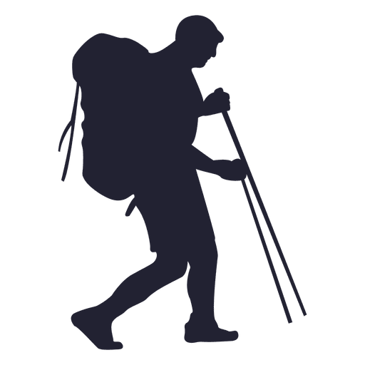 512x512 Mountain Hiker Silhouette