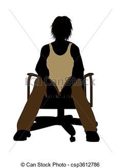 236x329 Female Teen Sitting In A Chair Silhouette The Chair Series